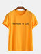 Mens Funny Cotton Slogan Little Tag T-shirts - Yellow
