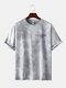 Mens Cool Gradient Color Character O-neck T-shirts - Gray
