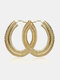 Alloy Exaggerated Fashion Large Circle-shape Earrings For Women - Gold