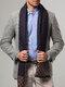 Männer Kaschmir Casual Universal Business Colorful Classic Plaid-Muster Warm halten Schal - Marine