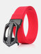Men Nylon 120cm Automatic Buckle Tactical Outdoor Business Jeans Belt - Red