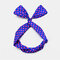 Cute Bow Hairband Straight Wire Hairband White Dot Stripe Fabric Cross Headband - #04