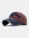 ユニセックスコットン太い文字パターン刺繡調節可能なカジュアル野球帽 - ブルゴーニュ