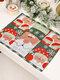 1 Pc décorations de noël tricoté napperon en tissu créatif tricoté napperon vieil homme petit arbre napperon - #01