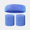 15 colori Soft Set di fascia per lo sport con fascia da polso per asciugamano Set di fascia per la fascia assorbente da sudore per sport sportivo - 7
