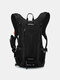 Men Reflective Cycling Outdoor Running Mountaineering Hiking backpack - Black