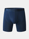Mens Patchwork Mesh Net Breathable Running Body Shaping Shorts - Navy