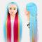 Multicolor Hairdressing Training Head Model Braided Disc Hair Salon Hairdresser Practice Mannequin - 13