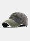 ユニセックスコットン太い文字パターン刺繡調節可能なカジュアル野球帽 - 緑