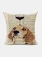 Animal Head Wine Glass Pattern Linen Cushion Cover Home Sofa Art Decor Throw Pillowcase - #18