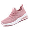 Women's Mesh Hollow Out Breathable Cushioned Casual Sneakers - Pink