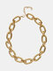 Simple Adjustable Thick Chain Women Necklace - N2319