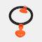 Smart Hula Fitness Hoops Intelligent Counting Removable Adjustable Waist Slimming Waist Training - Orange