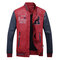 Men's Motorcycle Style PU Leather Patchwork Badge Decoration Slim Fit Baseball Jacket