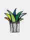 アクリルサンキャッチャーステンドアガベアロエ鉢植え植物フラワーポットガーデンホームオーナメント - #03