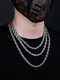Trendy Hip Hop Twist Chain Stainless Steel Necklace - Silver