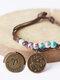 Vintage Constellation Circle-shape Ceramic Alloy Bracelets - #03