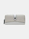 Women Patchwork Multi-card Slots Phone Bag Money Clip Wallet Purse Coin Purse - Gray