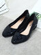 Women Casual Jelly Pointed Toe Gingham Block Heels Loafers - Black