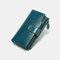Damen Echtes Leder RFID Diebstahlschutzölwachs 6,3-Zoll-Telefon Long Wallet Geldbeutel - Blau