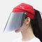 COLLROWN Women's Sun Hat Anti-UV Visor Anti-fog - Red