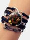 Vintage Twelve Constellation Women Bracelet LOVE Letter Multilayer Bracelet - Leo
