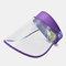 COLLROWN Transparent Screen Sun Hat Empty Top Hat Big Brim Cover Face Hat - Purple