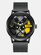 3D Hollow Wheel Hub Design Waterproof Fashion Full Steel Men Watch Quartz Watch - #02
