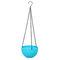 樹脂吊りフラワーポットガーデニングプラントポットフックガーデンプランターバスケットバルコニーの装飾 - 青