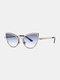 Unisex Metal Cat-eye Small Frame Colorful Lens Anti-UV Sunglasses - #06