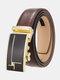 Men Rectangular Alloy Automatic Buckle Casual Business Belt - #10