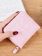 Women PU Leather Quilted Bag Money Clips Multi-card Slots Coin Purse Wallet - Pink