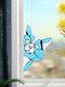 Cute Animal Pattern Hanging Decor Cat/Dog Print Sun Catcher Window Hanging Ornament Pendant For Window Wall Door - Blue
