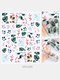 3D Nail Art Stickers Waterproof Small Fresh Colorful Simulation Dried Flowers Butterfly Nail Decals - #09