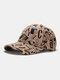 Men Cotton Graffiti Letter Pattern Casual Fashion Outdoor Sunshade Baseball Hat - Khaki