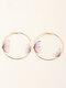 Double Three-dimensional Tulle Butterfly Earrings Temperament Ring Earrings - #03