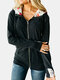 Calico Print Patchwork Drawstring Zip Front Plus Size Hoodie with Pockets - Black