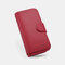 Women PU Leather Multi-card Slots Photo Card Phone Bag Money Clip Wallet Purse - Red