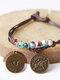 Vintage Constellation Circle-shape Ceramic Alloy Bracelets - #04