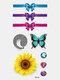 40 piezas 3D estéreo Impermeable tatuajes pegatinas escorpión flor transferencia de agua tatuaje pegatinas - 40