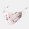 女性調節可能なプリントシフォンフェイスマスク通気性のエスニック花柄マスク  - 01