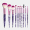 10Pcs / Kit مجموعة فرش المكياج Flash Diamond Drift Sand Makeup Brush Eyebrow Eyeshadow Brush - أرجواني