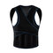 Women Men Posture Corrector Shoulder Brace Back Support Belt Adjustable Black Y Vest Design Belts - Black