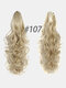 6 Colors Catch Clip Long Curly Hair Fluffy Messy High Ponytail Wig Piece - #06
