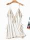 Home Pajamas Deep V Lace Silk Sling String Soft Sleepwear
