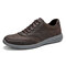 Men Light Weight Soft Lace Up Walking Shoes - Coffee