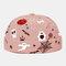 COLLROWN Men & Damen Halloween Style Pattern Krempe Beanie Landlord Cap Skull Cap - Rosa