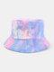 Women & Men Corduroy Multicolor Tie Dye Casual Soft Outdoor All-match Bucket Hat - #16