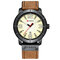CURREN 8327 Casual Style Date Display Men Wristwatch Leather Band Quartz