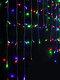Guirnalda de Navidad LED Cortina Cadena de luces de carámbano Guirnalda Luz de hadas de Navidad al aire libre Decoración de fiesta - Multicolor